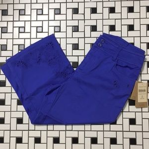 Coldwater Creek Ivy cropped pants NWT purple